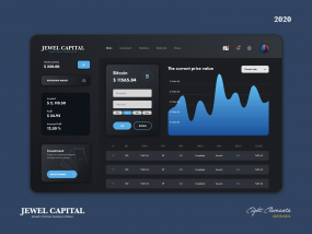 JEWEL CAPITAL (Binary Options Bitcoin) - Dark Mode