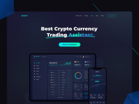 Bitoket cryptocurrency Landing page design