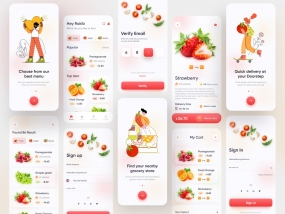 Grocery Delivery App Design (Full)