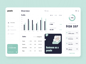Puzzle e-commerce analytics - Web app
