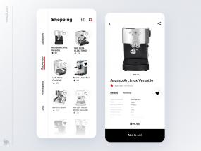Mobile Shopping App Design Concept