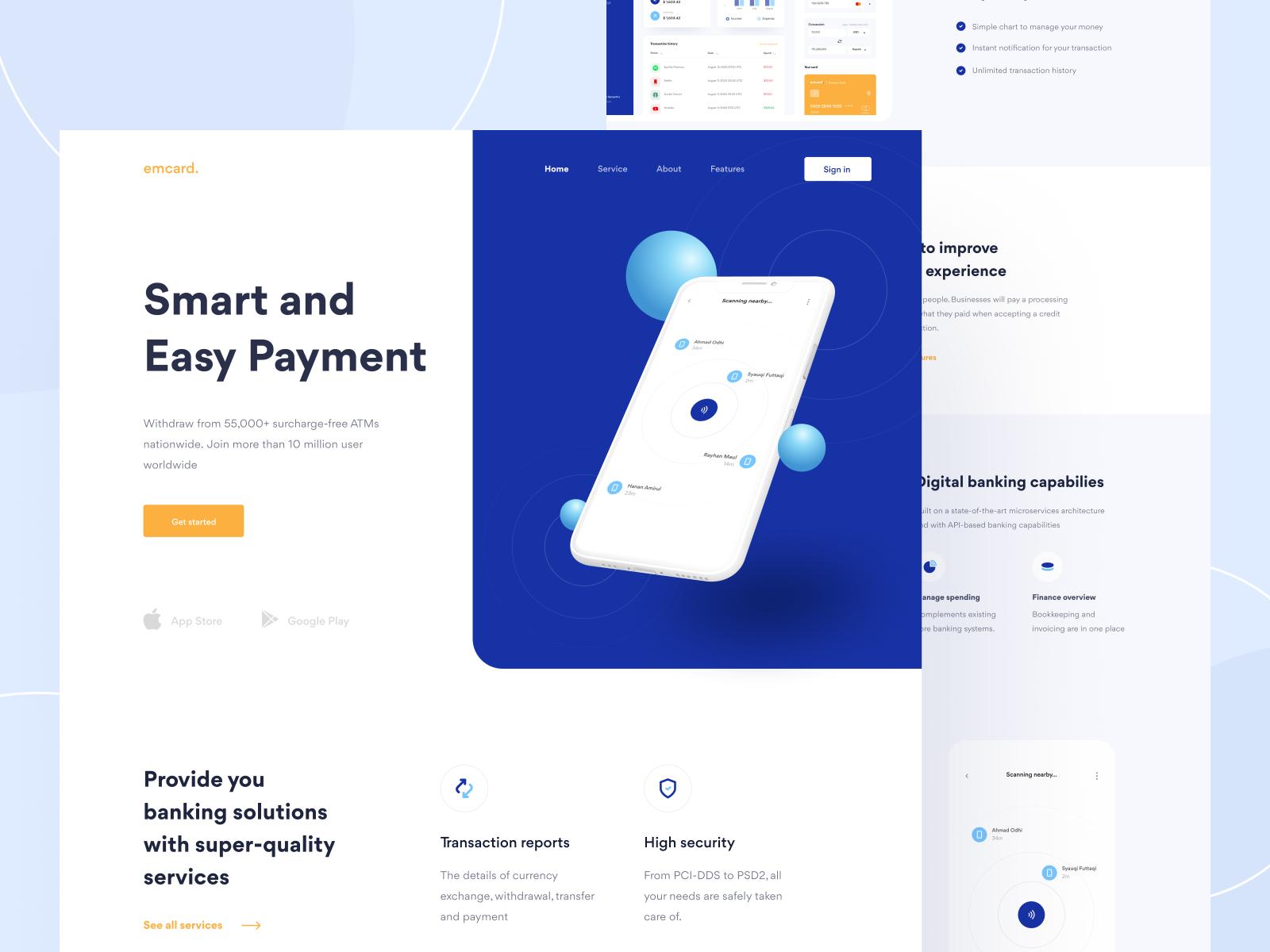 Banking Platform - Landing Page