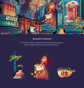 Illustration for 冈本 & Other Works
