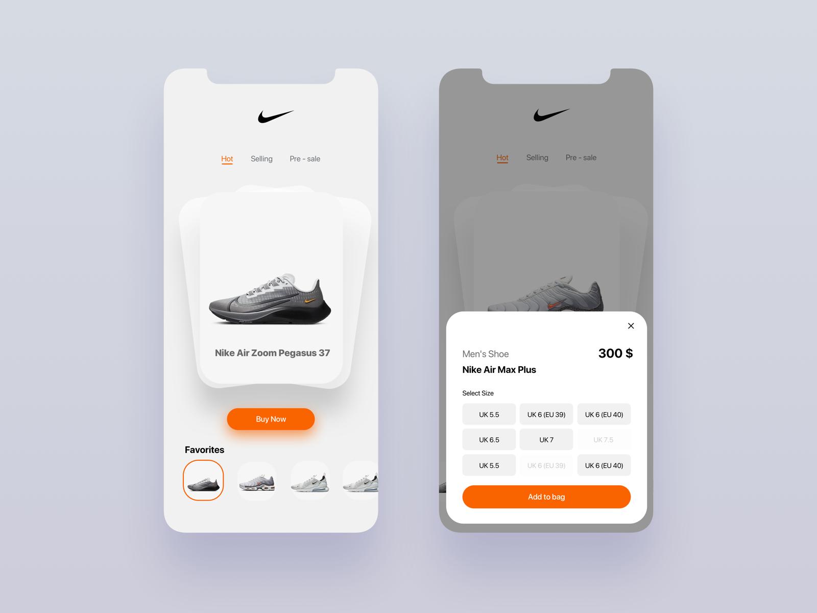 Nike Ui Concept Flip Card