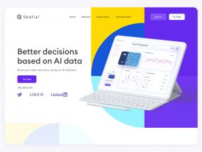 Project Management Website Landing Page Design