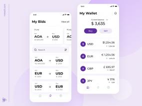 Currency Exchange Mobile App Design Concept