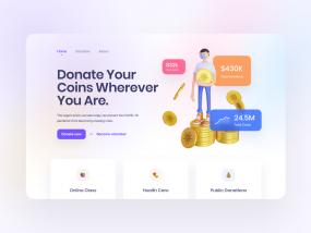 3D Illustration for Donation Dashboard Concept