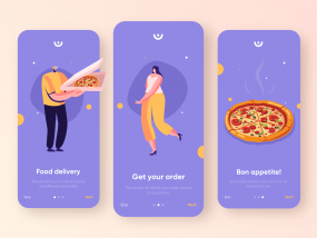 Onboarding for Food Delivery service - Mobile App