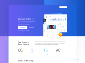 Dashboard UI Kit 3.0 - Landing Page Live