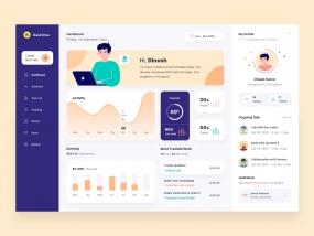 Dashboard for freelance designers