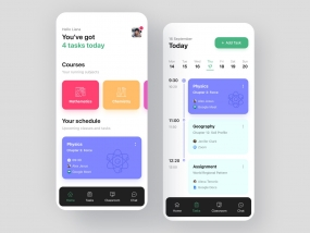 Study Management App Design | Task Management | Class Schedule