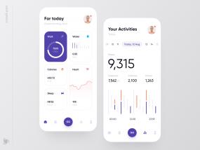 Health Tracker App Design Concept