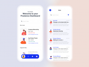 Freelance Dashboard - Mobile Designs