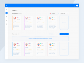 Goal page / Dashboard / Web app