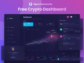 Figma Community - Free Dark Crypto Dashboard