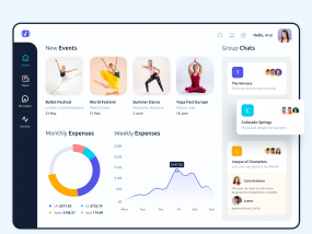 Events SaaS Dashboard Platform Design