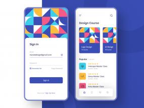 Design Course Mobile App