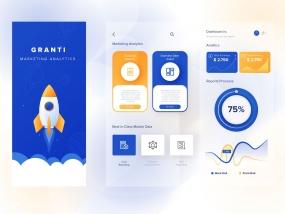 Marketing Dashboard App Concept