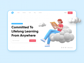 Educational Landing Page Header Exploration