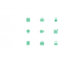 Green Icon Set for Sales 📞