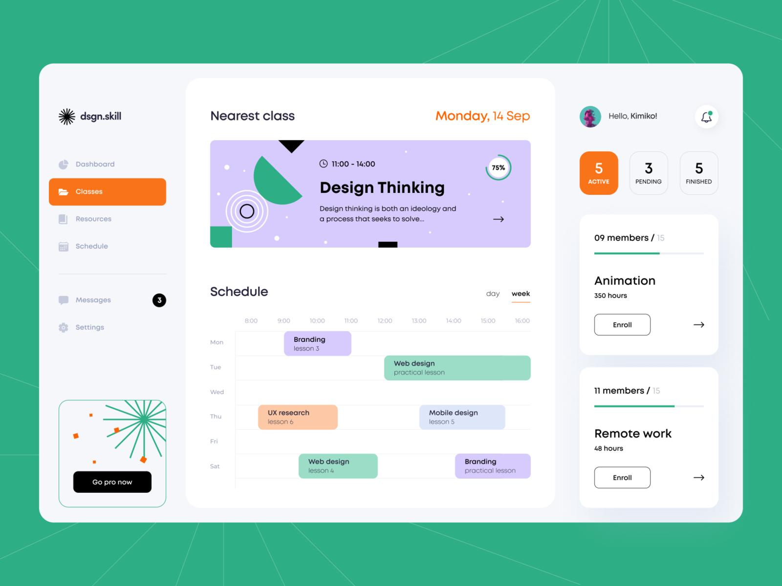 Design Classes - Web App